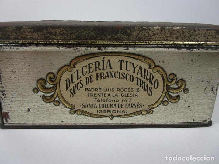 Cajas y cajitas metálicas: Antigua Caja Metálica - Dulcería Tuyarro - Sucs de Francisco Trias, Santa Coloma de Farnés - Romería - Foto 6 - 198384837