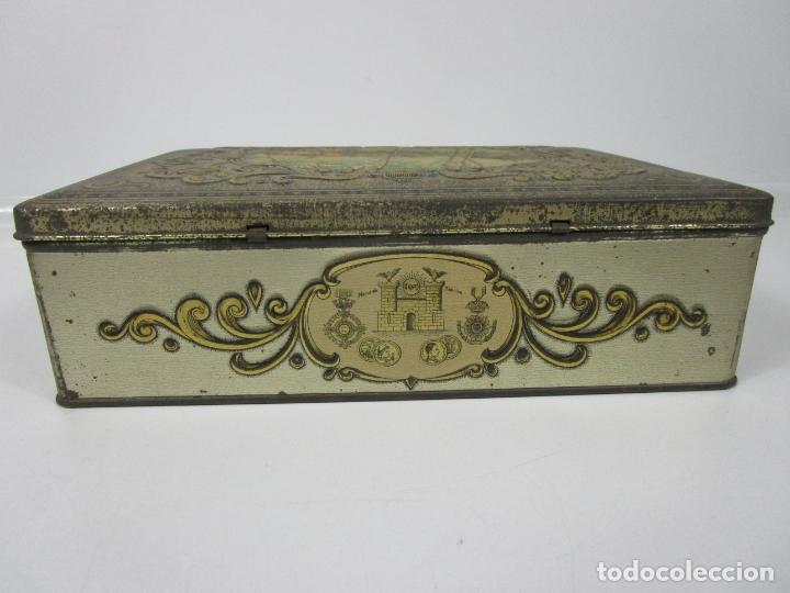 Cajas y cajitas metálicas: Antigua Caja Metálica - Dulcería Tuyarro - Sucs de Francisco Trias, Santa Coloma de Farnés - Romería - Foto 7 - 198384837