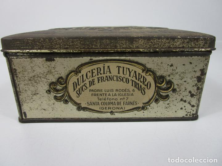 Cajas y cajitas metálicas: Antigua Caja Metálica - Dulcería Tuyarro - Sucs de Francisco Trias, Santa Coloma de Farnés - Romería - Foto 8 - 198384837