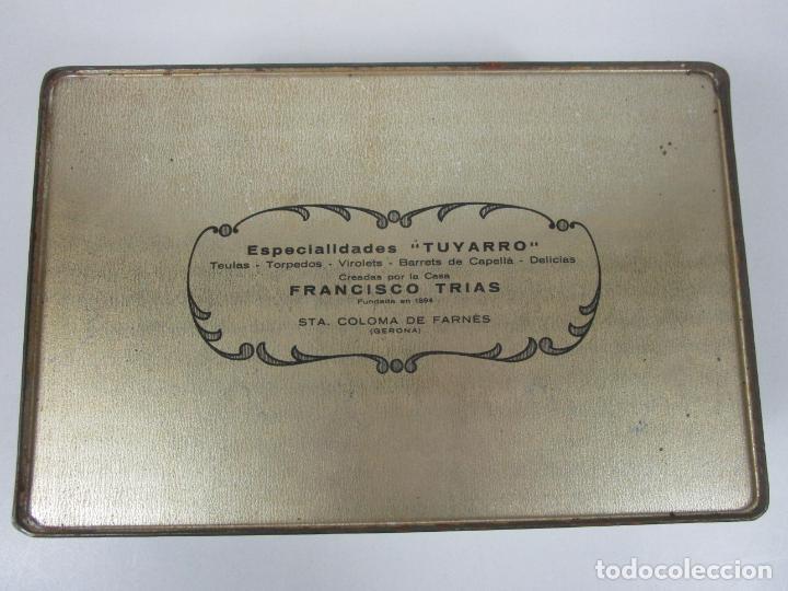 Cajas y cajitas metálicas: Antigua Caja Metálica - Dulcería Tuyarro - Sucs de Francisco Trias, Santa Coloma de Farnés - Romería - Foto 10 - 198384837