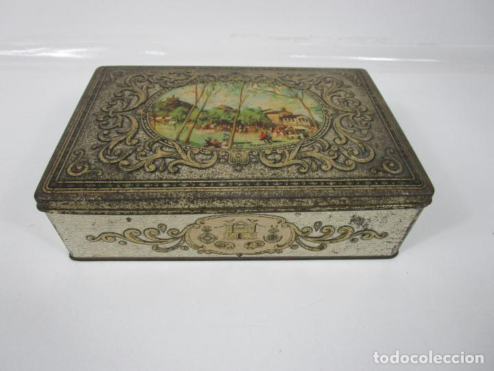 Cajas y cajitas metálicas: Antigua Caja Metálica - Dulcería Tuyarro - Sucs de Francisco Trias, Santa Coloma de Farnés - Romería - Foto 11 - 198384837