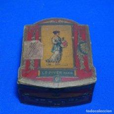 Cajas y cajitas metálicas: ANTIGUA CAJA DE CARTÓN.L. T. PIVER.PARIS.CON SELLO PELÓN.POUDRE POMPEIA.. Lote 198956676