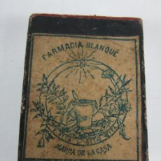 Boîtes et petites boîtes métalliques: ANTIGUA CAJA DE MEDICAMENTO - FARMACIA BLANQUÉ - MARCA DE LA CASA - S. XIX-XX. Lote 199086618