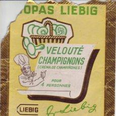 Cajas y cajitas metálicas: SOPAR LIEBIG - ANTIGUO ENVASE AÑOS 50. Lote 199657167