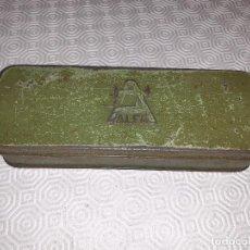 Cajas y cajitas metálicas: CAJA METALICA ALFA. USADA. VACIA.. Lote 199663656
