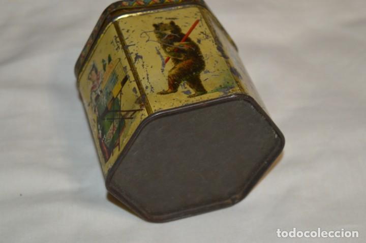 Cajas y cajitas metálicas: Vintage - Antigua CAJA / LATA DE HOJALATA - Forma HEXAGONAL - PRECIOSA / Muy, muy ANTIGUA - ¡Mira! - Foto 6 - 199766156