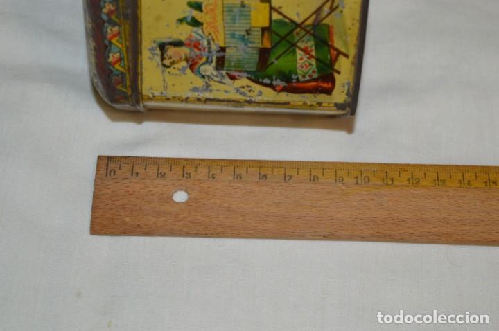 Cajas y cajitas metálicas: Vintage - Antigua CAJA / LATA DE HOJALATA - Forma HEXAGONAL - PRECIOSA / Muy, muy ANTIGUA - ¡Mira! - Foto 7 - 199766156