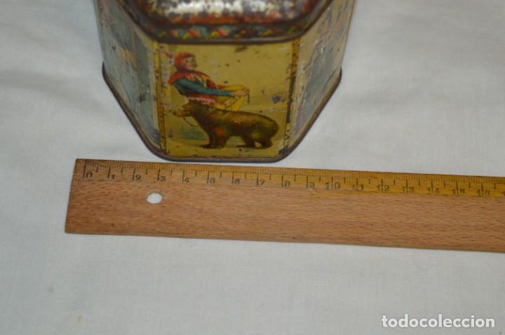Cajas y cajitas metálicas: Vintage - Antigua CAJA / LATA DE HOJALATA - Forma HEXAGONAL - PRECIOSA / Muy, muy ANTIGUA - ¡Mira! - Foto 8 - 199766156