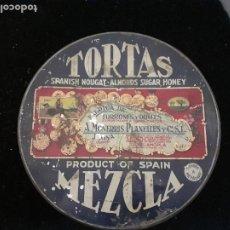 Cajas y cajitas metálicas: CAJA METALICA TURRON. Lote 200008956