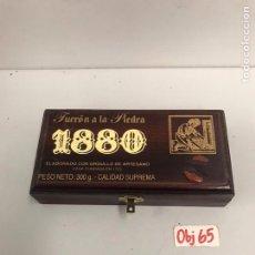 Cajas y cajitas metálicas: CAJA MADERA TURRÓN. Lote 201311282