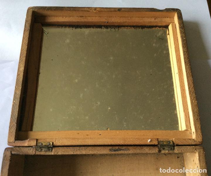 Cajas y cajitas metálicas: ANTIGUA CAJA EN MADERA SIGLO XIX,IDEAL DECORACIÓN - Foto 3 - 202338730