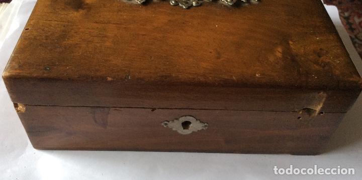 Cajas y cajitas metálicas: ANTIGUA CAJA EN MADERA SIGLO XIX,IDEAL DECORACIÓN - Foto 6 - 202338730