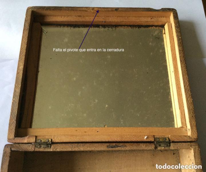 Cajas y cajitas metálicas: ANTIGUA CAJA EN MADERA SIGLO XIX,IDEAL DECORACIÓN - Foto 7 - 202338730