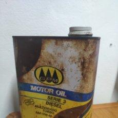 Caixas e caixinhas metálicas: RARA Y ANTIGUA LATA DE ACEITE MOTOR GPM MOTOR OIL 2 LITROS. Lote 203140797