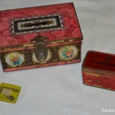Cajas y cajitas metálicas: LOTE 01 / VINTAGE 3 ANTIGUAS CAJAS DE HOJALATA - VARIADAS Y DIFERENTES TAMAÑOS PRECIOSAS, MIRA!. Lote 203177685