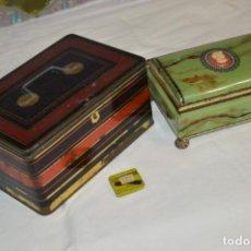 Cajas y cajitas metálicas: LOTE 03 / VINTAGE 3 ANTIGUAS CAJAS DE HOJALATA - VARIADAS Y DIFERENTES TAMAÑOS ¡PRECIOSAS, MIRA!. Lote 203180776
