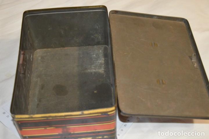 Cajas y cajitas metálicas: Lote 03 / Vintage 3 antiguas cajas de hojalata - Variadas y diferentes tamaños ¡Preciosas, MIRA! - Foto 7 - 203180776