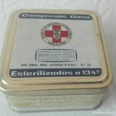 Cajas y cajitas metálicas: CAJA GASAS.FÁBRICA DE APÓSITOS ESTERILIZADOS. BARCELONA. C1. Lote 203564338