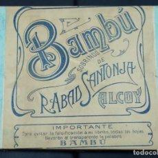 Cajas y cajitas metálicas: CAJA DE CARTÓN DE PAPEL DE FUMAR BAMBÚ CON BONITA ETIQUETA AÑOS 1920,S. Lote 204228672