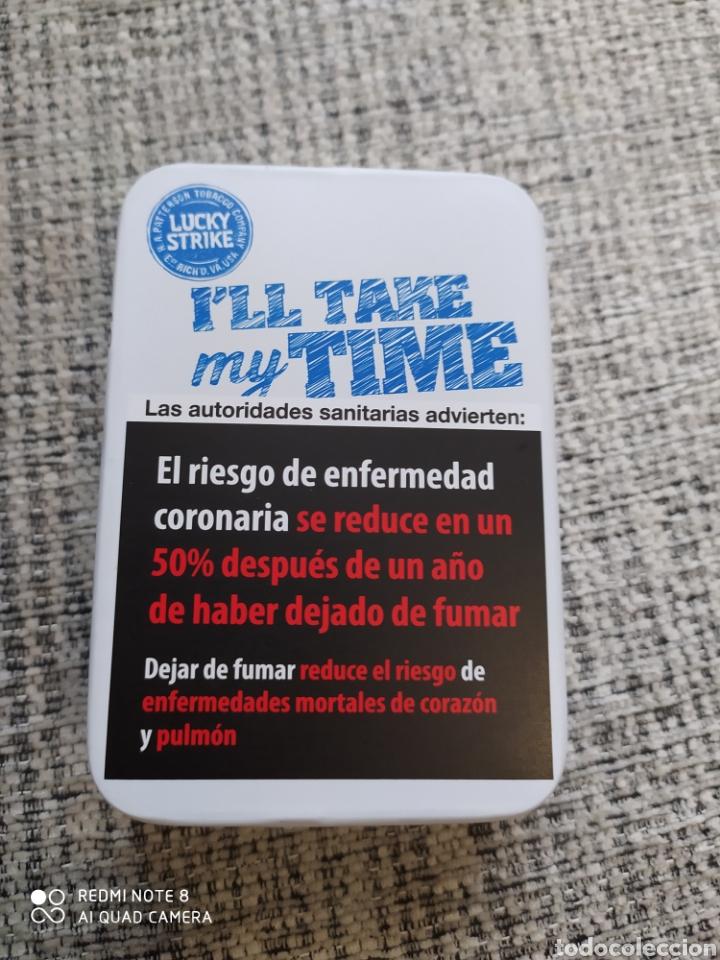 Cajas y cajitas metálicas: Caja metálica de Lucky Strike Real Authentic. - Foto 5 - 205712595