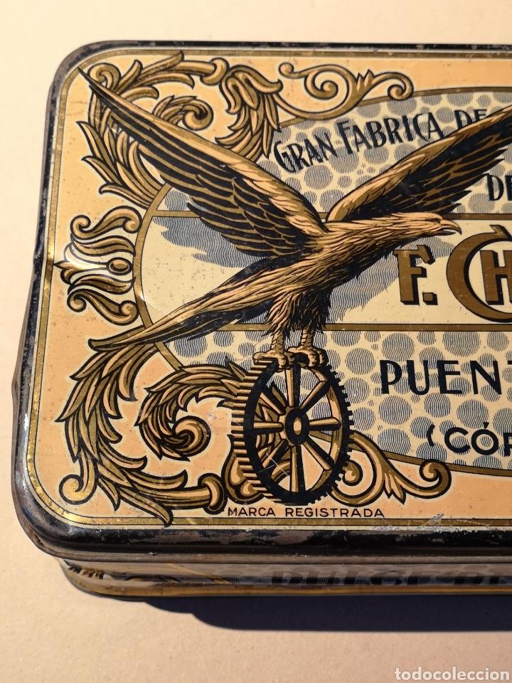 Cajas y cajitas metálicas: Bonita y Antigua Caja de Hojalata de Membrillo F. Chacón Yerón - Foto 3 - 205735623