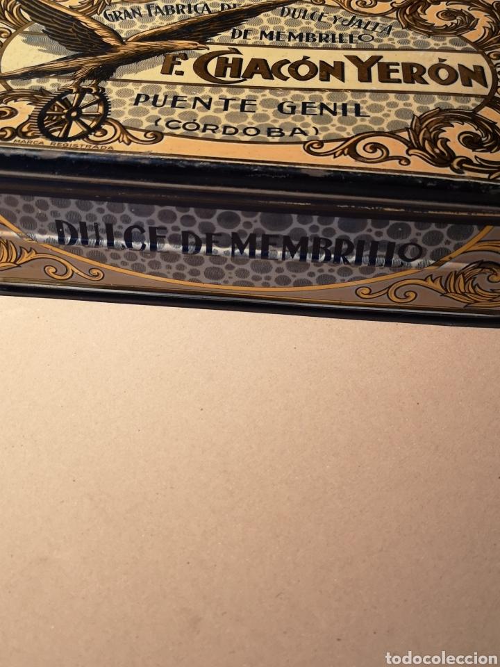 Cajas y cajitas metálicas: Bonita y Antigua Caja de Hojalata de Membrillo F. Chacón Yerón - Foto 4 - 205735623