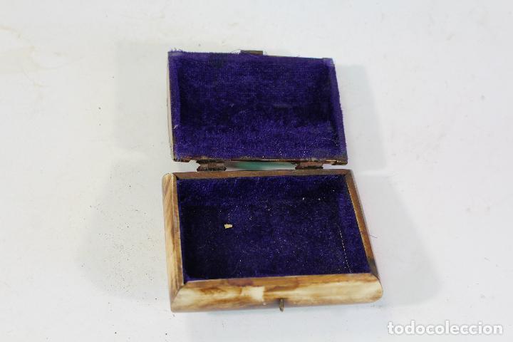 Cajas y cajitas metálicas: CAJITA JOYERO HUESO Y LATON - Foto 4 - 206197262