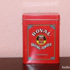 Cajas y cajitas metálicas: LATA ROYAL BAKING POWDER COLOR ROJO. Lote 206274453