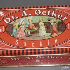 Cajas y cajitas metálicas: LATA DE MARCA DR. A. OETKER. Lote 206524038