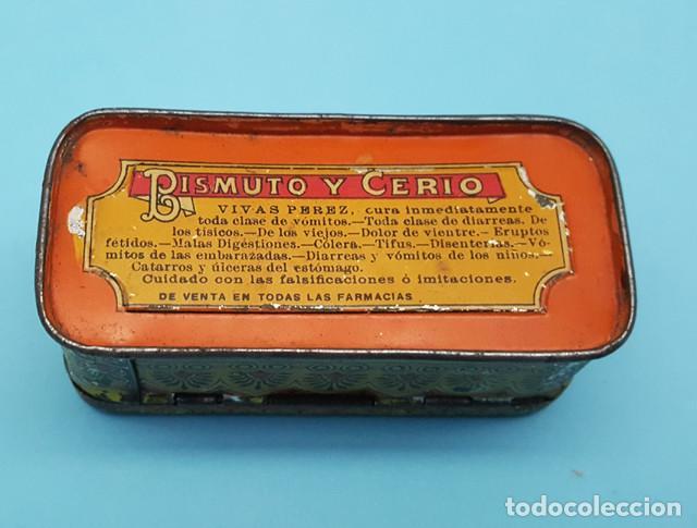 Cajas y cajitas metálicas: CAJITA METALICA SALICITATOS DE BISMUTO Y CERIO VIVAS PEREZ 3 X 8 X 3,50 CM - Foto 3 - 206566200