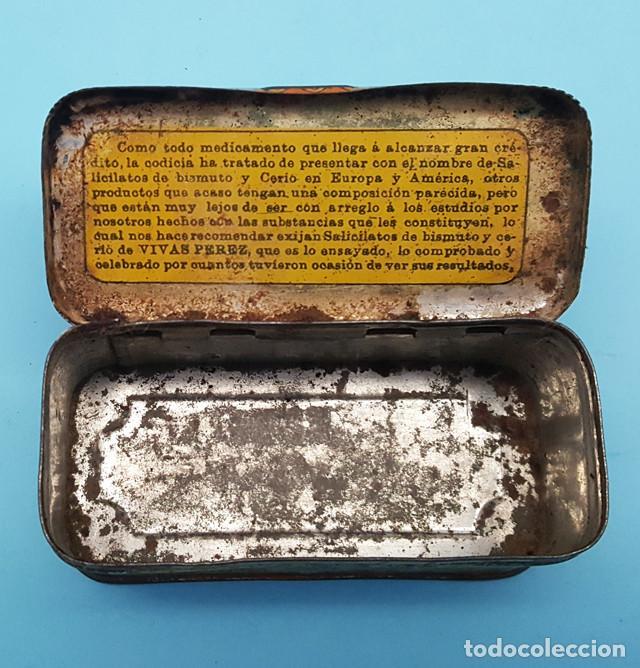 Cajas y cajitas metálicas: CAJITA METALICA SALICITATOS DE BISMUTO Y CERIO VIVAS PEREZ 3 X 8 X 3,50 CM - Foto 4 - 206566200