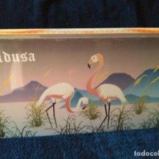Cajas y cajitas metálicas: CAJA DE HOJALATA LITOGRAFÍADA FÁBRICA CARAMELOS LA ALDUSA- LA CABRA DE LOGROÑO. 25 X 17X 4 CM. Lote 206780185