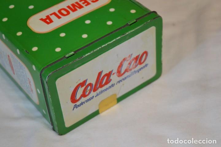 Cajas y cajitas metálicas: COLA-CAO / COLA CAO / Lote 2 cajas antiguas, formatos y épocas diferentes / SEMOLA y LABORES ¡Mira! - Foto 4 - 206926651