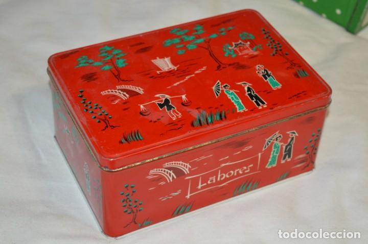 Cajas y cajitas metálicas: COLA-CAO / COLA CAO / Lote 2 cajas antiguas, formatos y épocas diferentes / SEMOLA y LABORES ¡Mira! - Foto 7 - 206926651