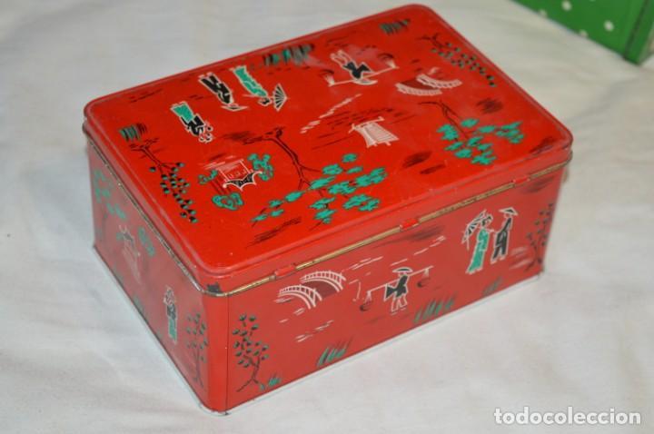 Cajas y cajitas metálicas: COLA-CAO / COLA CAO / Lote 2 cajas antiguas, formatos y épocas diferentes / SEMOLA y LABORES ¡Mira! - Foto 8 - 206926651