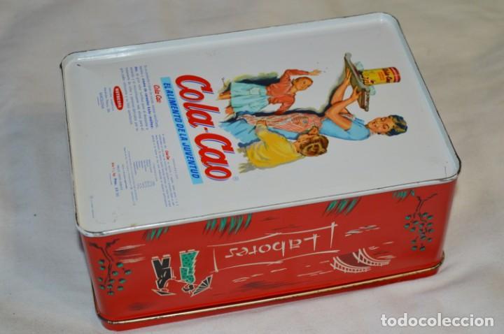 Cajas y cajitas metálicas: COLA-CAO / COLA CAO / Lote 2 cajas antiguas, formatos y épocas diferentes / SEMOLA y LABORES ¡Mira! - Foto 9 - 206926651