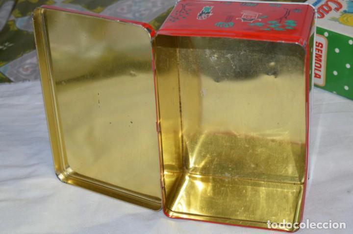 Cajas y cajitas metálicas: COLA-CAO / COLA CAO / Lote 2 cajas antiguas, formatos y épocas diferentes / SEMOLA y LABORES ¡Mira! - Foto 10 - 206926651