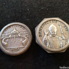 Cajas y cajitas metálicas: PASTILLERO CAJA, SAN PIETRO, BENEDICTUS XVI, ROMA. Lote 207212991
