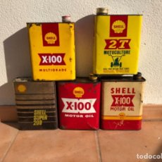 Cajas y cajitas metálicas: LOTE LATA ACEITE SHELL DE 2 LITROS.. Lote 207354793