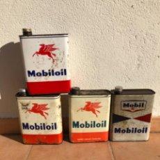 Cajas y cajitas metálicas: LOTE DE LATAS MOBILOIL DE 2 LITROS.. Lote 207354825