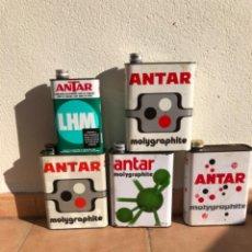 Cajas y cajitas metálicas: LOTE LATA ACEITE ANTAR DE 2 Y 1 LITRO.. Lote 207355057