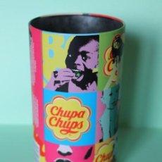 Cajas y cajitas metálicas: BOTE METALICO DE CHUPA CHUPS. 15,5 CM DE ALTO Y 8,5 CM DIAMETRO. POP ART. AÑOS 2009-2011.. Lote 207389937