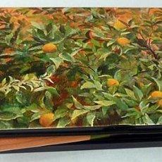 Cajas y cajitas metálicas: CAJA METÁLICA JARDÍN (I. QUINTANILLA) 12 LÁPICES DOBLES- MUSEO THYSSEN B. - AGOTADO EN MUSEO - NUEVO. Lote 207432608