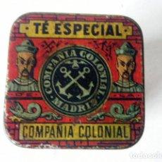 Cajas y cajitas metálicas: CAJA LATA TÉ ESPECIAL COMPAÑÍA COLONIAL MADRID. Lote 207953542