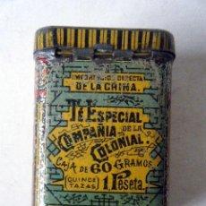 Cajas y cajitas metálicas: CAJA LATA TÉ ESPECIAL COMPAÑÍA COLONIAL MADRID. Lote 207953725