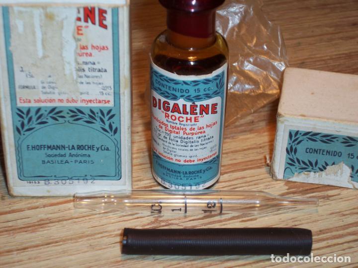 Cajas y cajitas metálicas: ANTIGUA CAJA MEDICAMENTO DE LABORATORIOS F.HOFFMANN-LA ROCHE Y CIA . BASILEA -PARIS . DIGALÈNE . - Foto 5 - 208079957