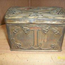 Cajas y cajitas metálicas: CAJA ANTIGUA DE HOJALATA- HORNIMANS PURE TEA. Lote 208107470
