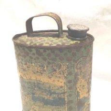 Cajas y cajitas metálicas: VIRGEN DE LOURDES LATA CANTIMPLORA RECUERDO AÑOS 50. MED. 8 X 17 CM. Lote 208116631