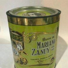Cajas y cajitas metálicas: ANTIGUA LATA / HIJOS DE MARIANO ZANUY ( TAMARITE DE LITERA - HUESCA ) ALMENDRA TOSTADA SELECTA. Lote 208564923