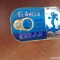 Cajas y cajitas metálicas: LATA SARDINAS EL ANCLA AÑOS 80 FECHA CADUCIDAD ANTES DEL 1987 SIN ABRIR DE ANTIGUO ALMACEN.. Lote 222594665